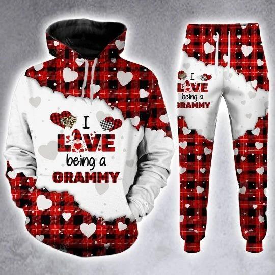 I love being a Gramma custom name 3D hoodie and legging 1