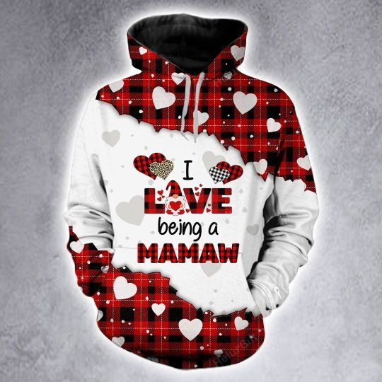 I love being a mamaw custom name 3D hoodie and legging 4