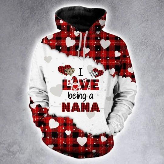 I love being a nana custom name 3D hoodie and legging 4