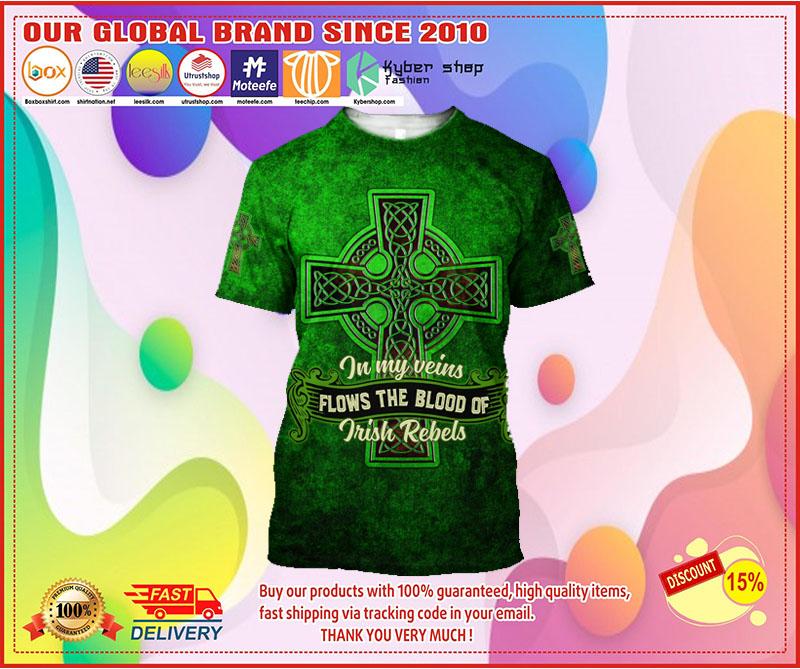 In my veins flows the blood of irish rebels 3D hoodie 3 2