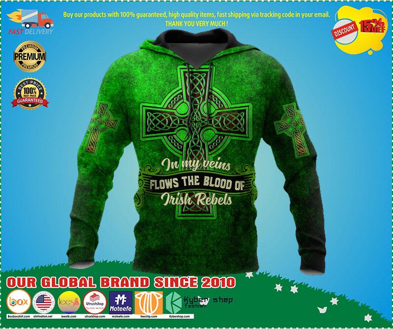 In my veins flows the blood of irish rebels 3D hoodie 4