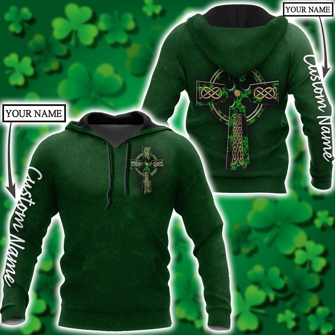 Irish St.Patrick day custom name 3D hoodie 2 1