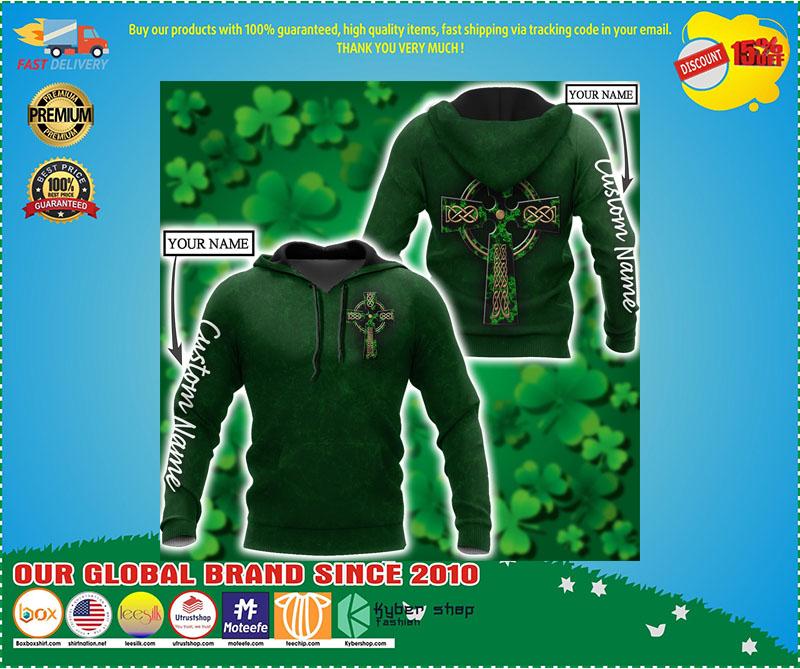 Irish StPatrick day custom name 3D hoodie 1