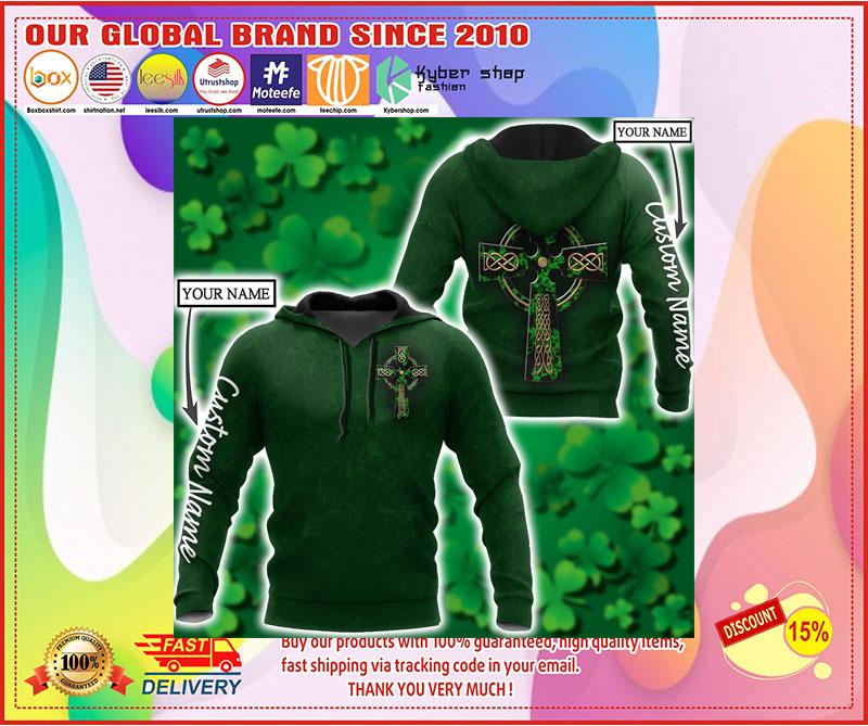 Irish StPatrick day custom name 3D hoodie 2