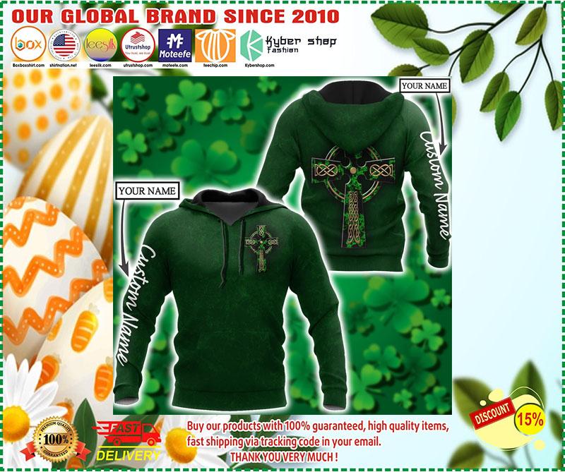 Irish StPatrick day custom name 3D hoodie 3