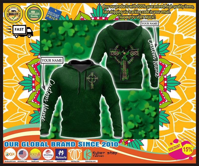Irish StPatrick day custom name 3D hoodie 4