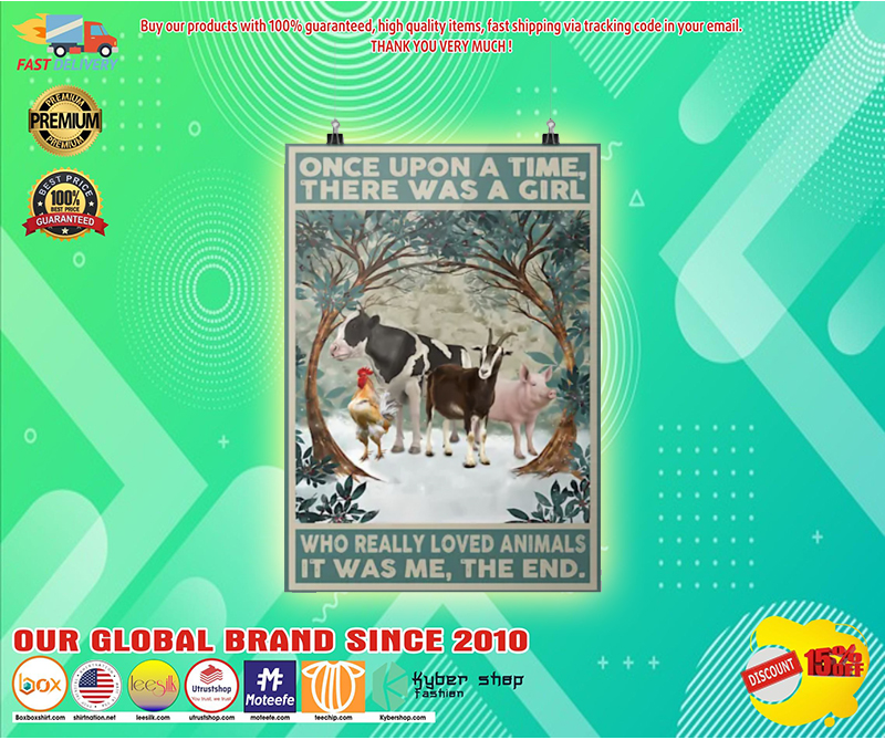 Once upon a time there was a girl who really loved animals poster 3 3