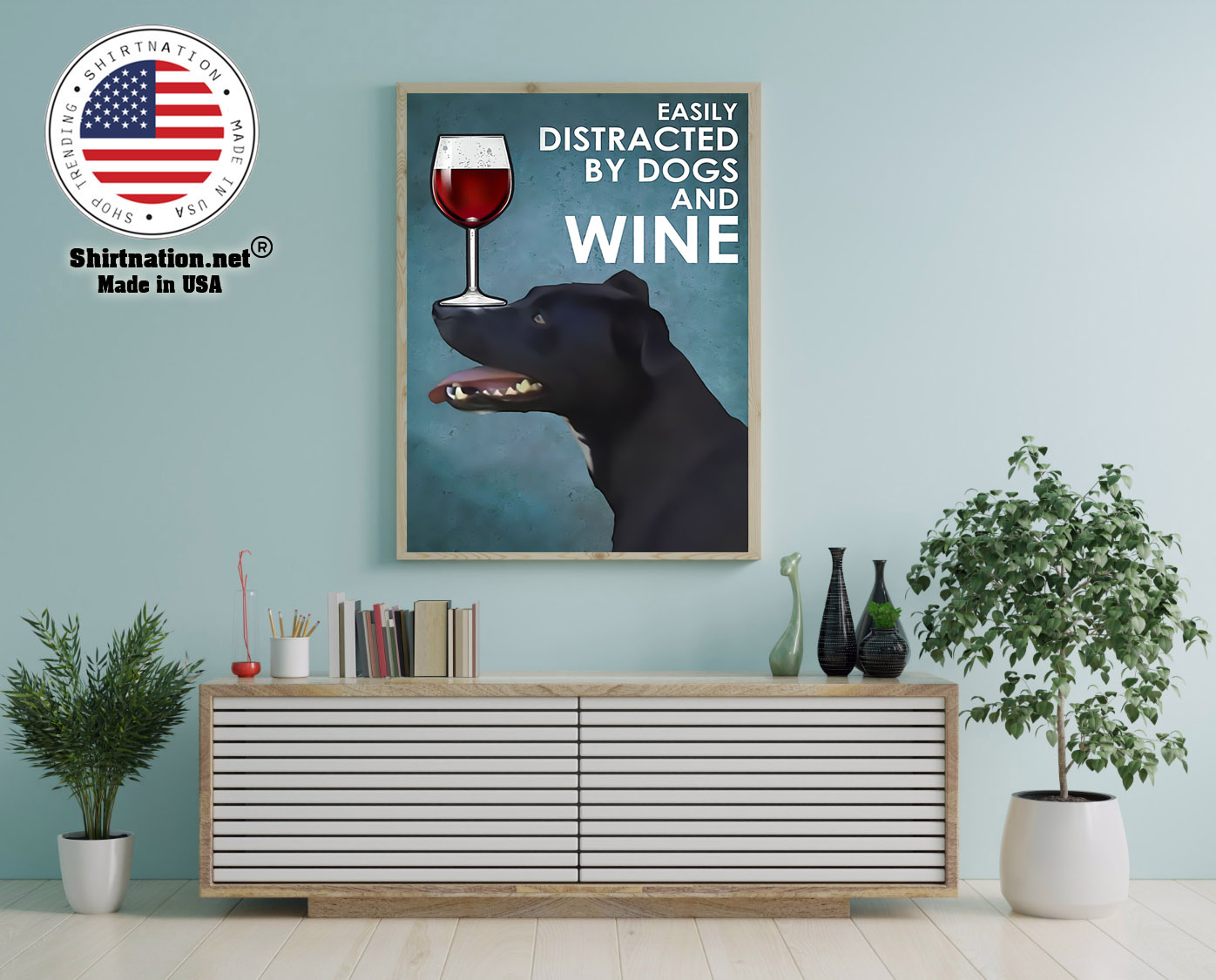 Patterdale terrier easily distracted by dogs and wine poster