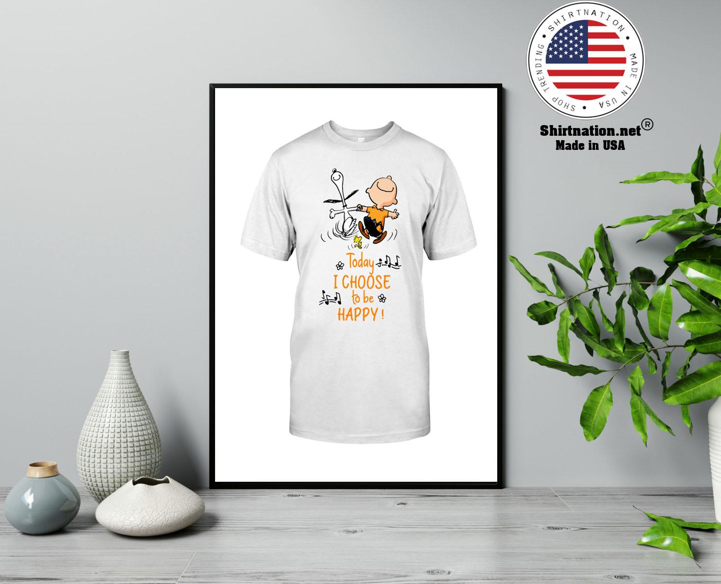 Peanuts Snoopy today i choose to be happy shirt 13