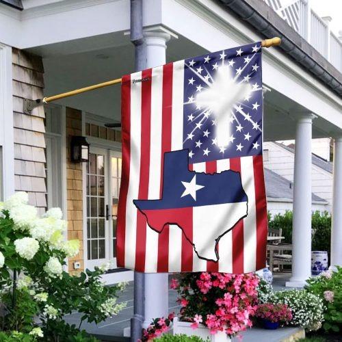 Texas American flag