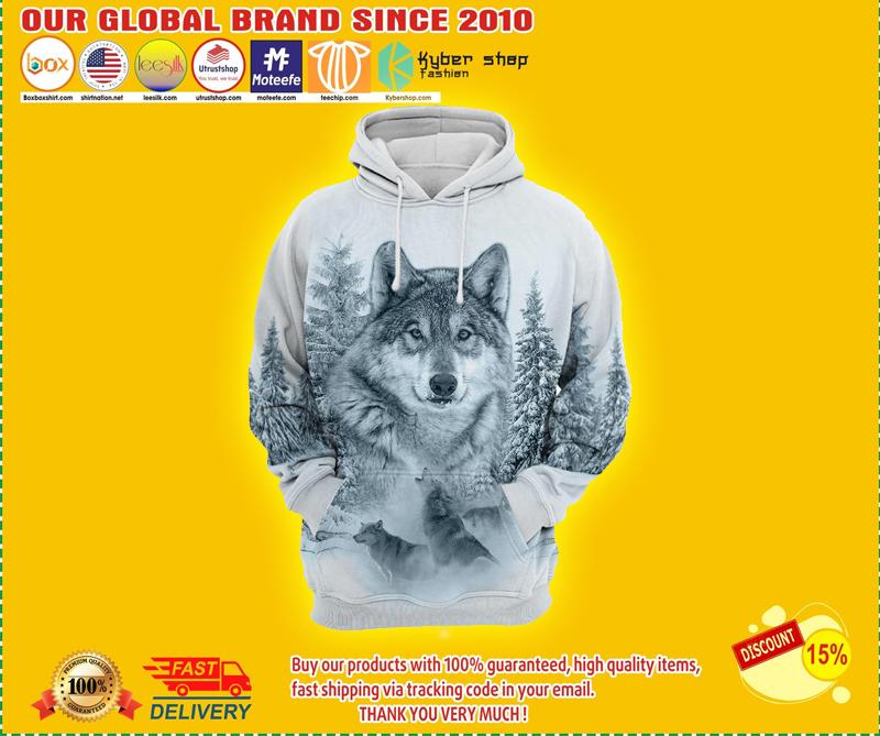 Wolf 3D all print hoodie