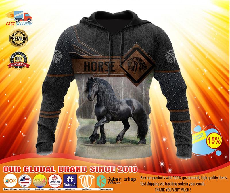 Horse 3D hoodie3