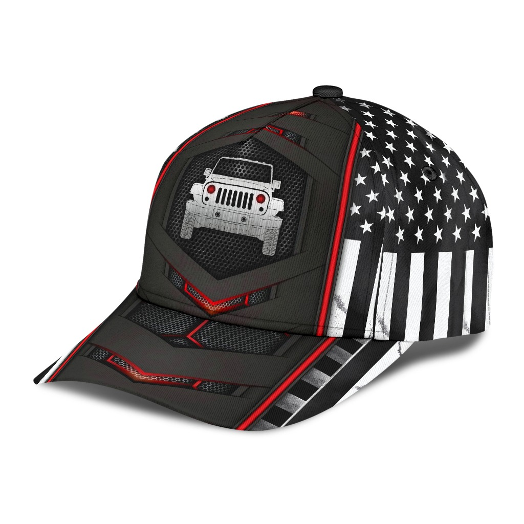 Jeep red flag carbon cap2