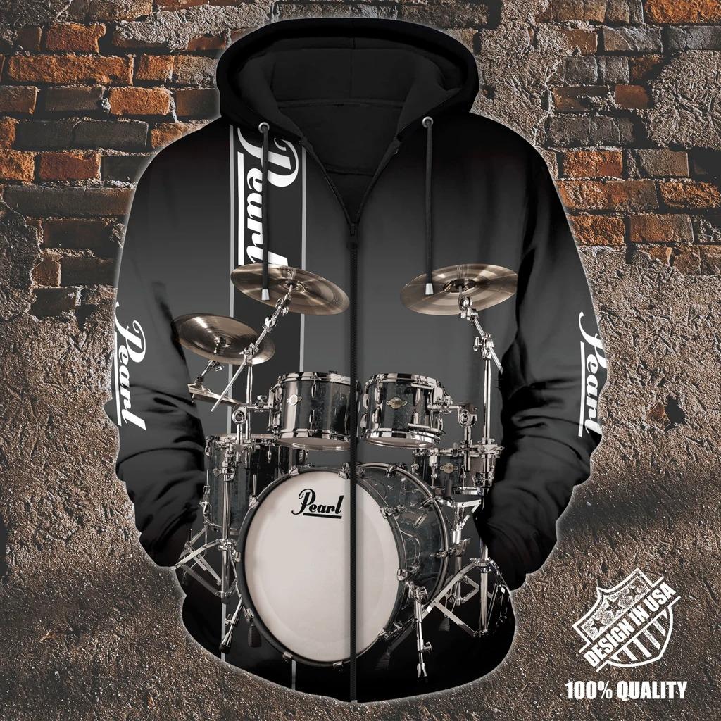 Pearl Drummer zip hoodie3