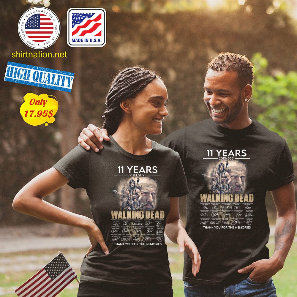 11 years 2010 2021 The walking dead thank you for the memories Shirt