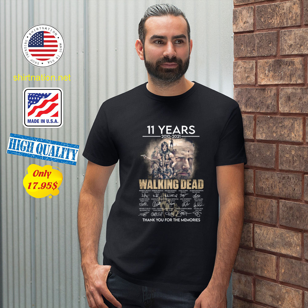 11 years 2010 2021 The walking dead thank you for the memories Shirt2