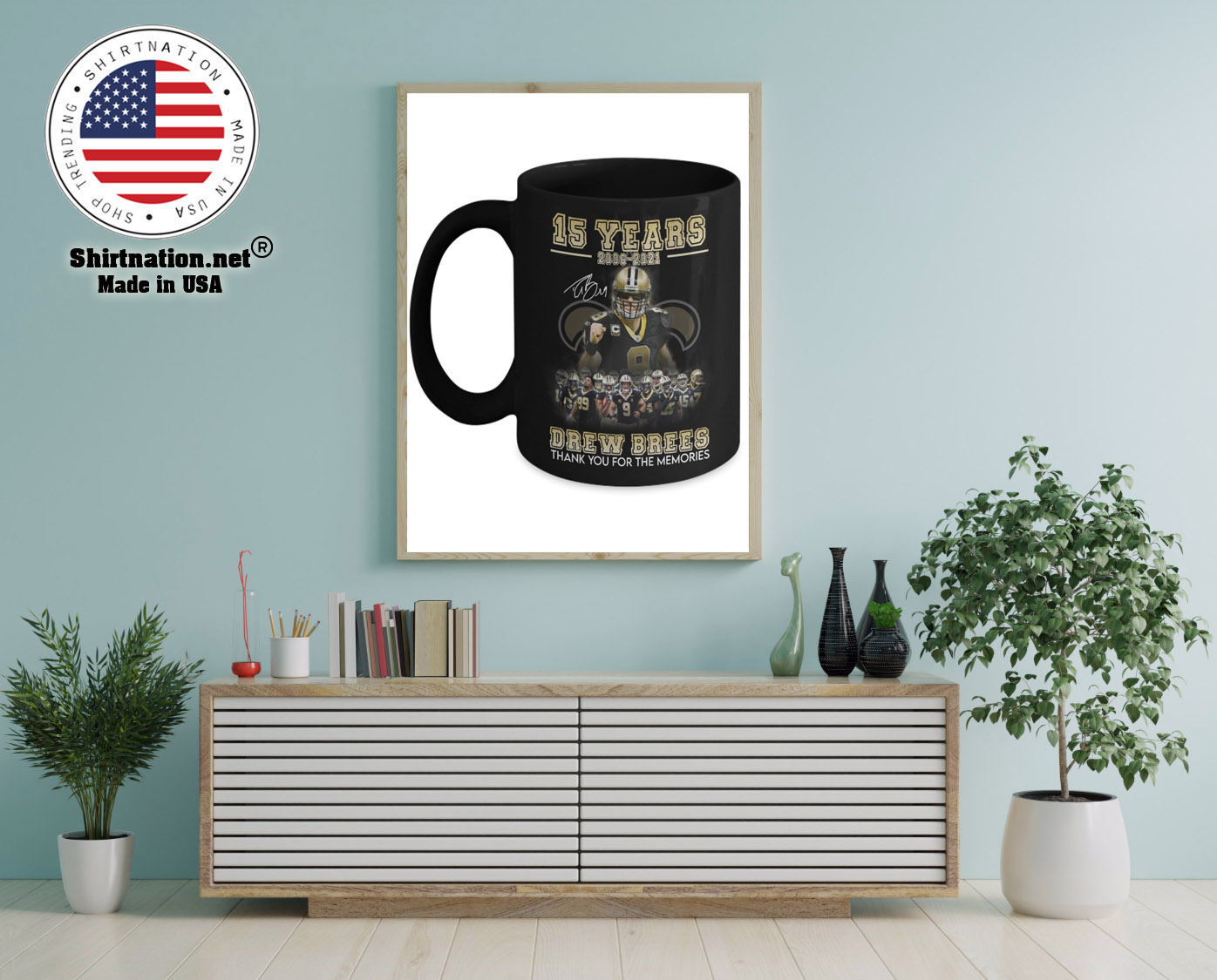 15 years 2006 2021 drew brees thank you for the memories mug 12