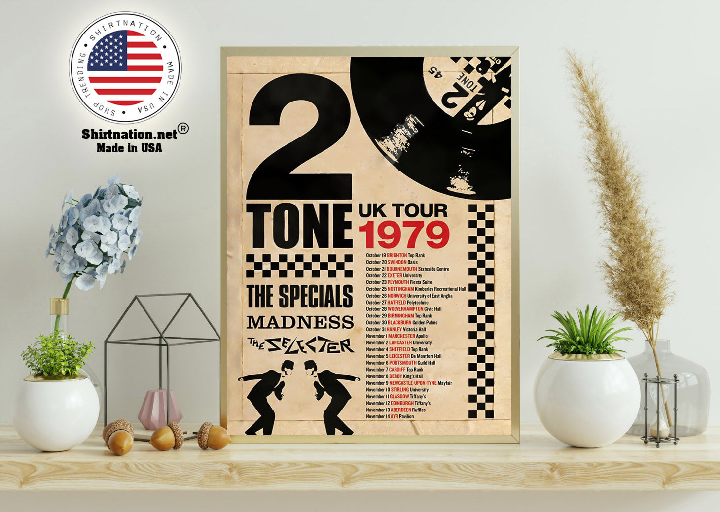 2 Tone UK tour 1979 the specials madness poster 11