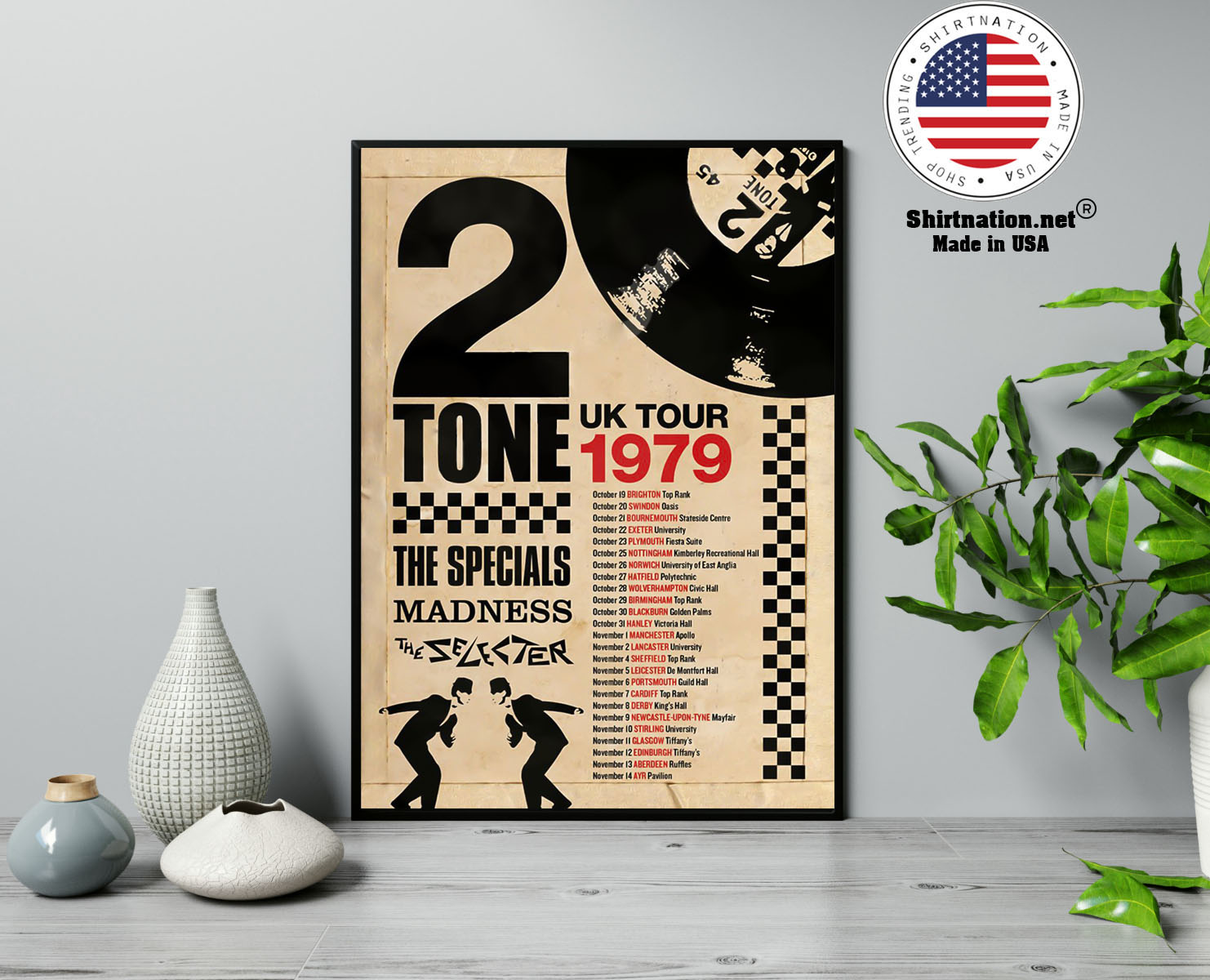2 Tone UK tour 1979 the specials madness poster 13