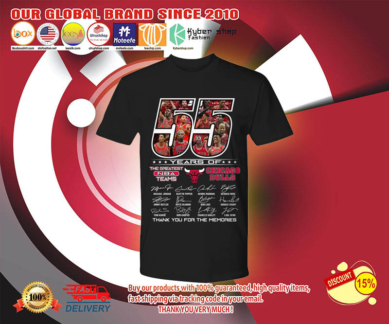55 years of the greatest NBA teams Chicago Bulls shirt 2