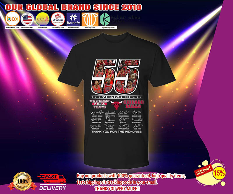 55 years of the greatest NBA teams Chicago Bulls shirt 3