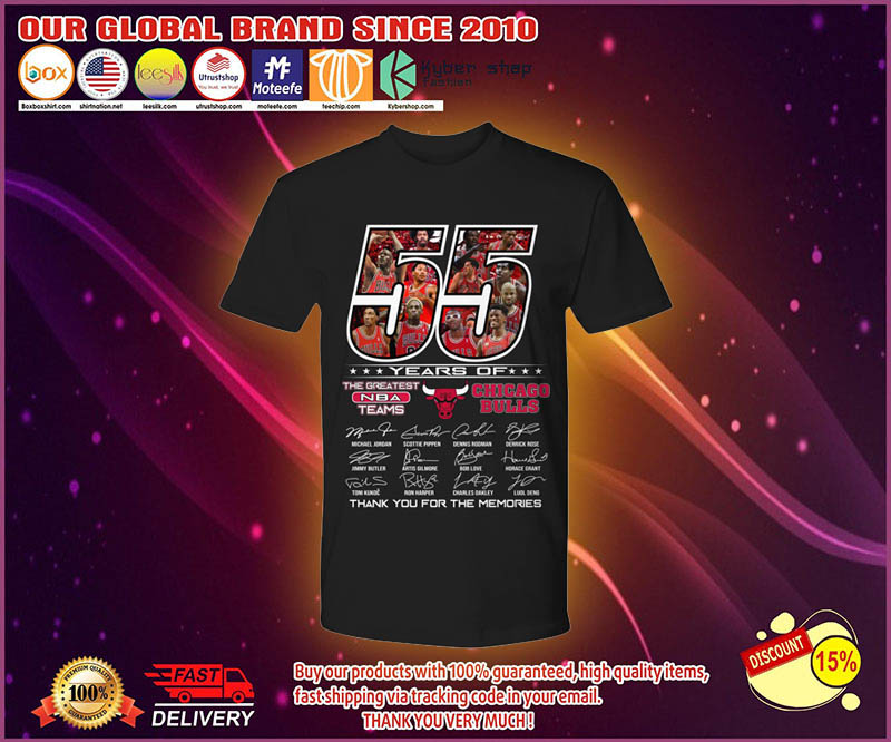 55 years of the greatest NBA teams Chicago Bulls shirt 4