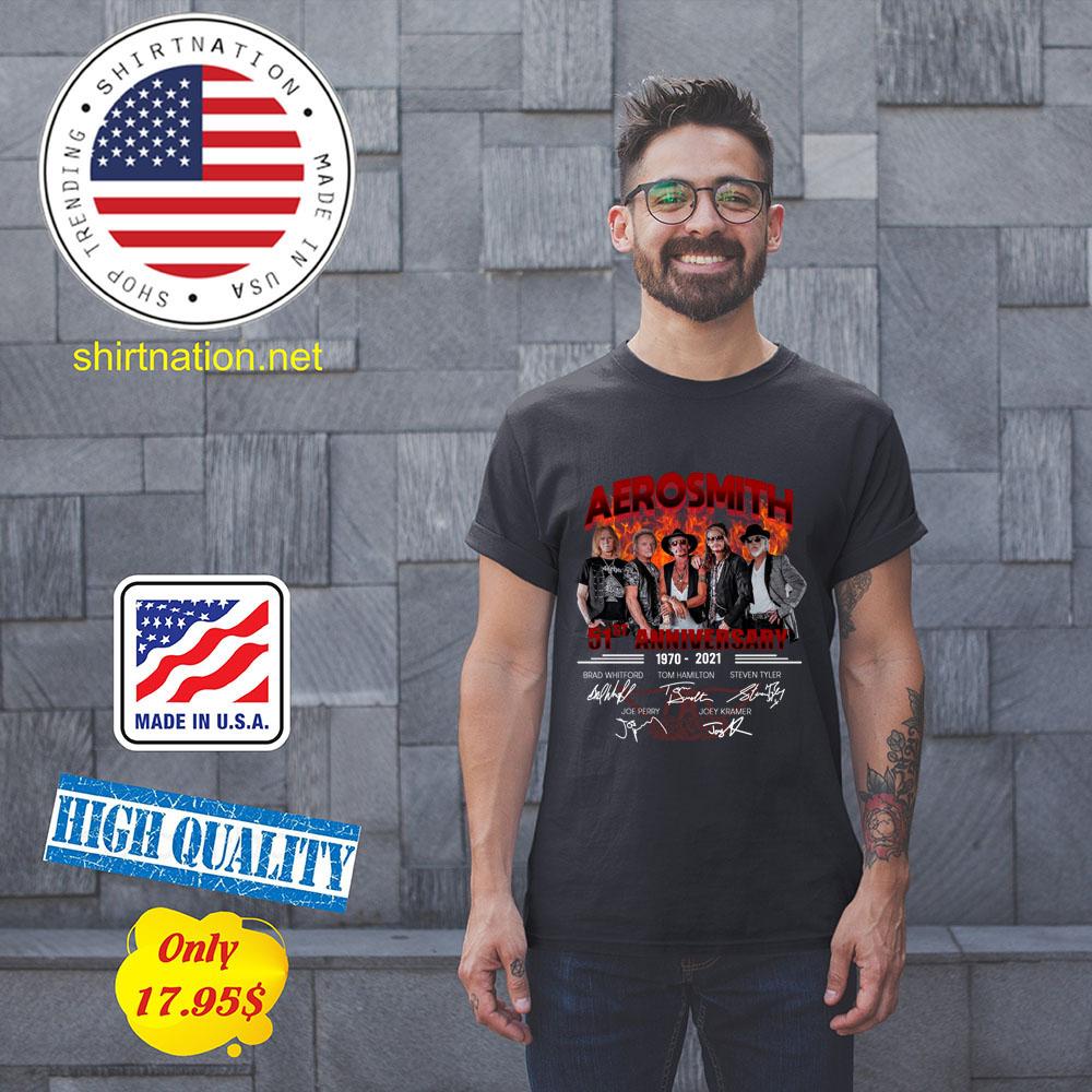Aerosmith 51st Anniversary1970 2021 Shirt1 1
