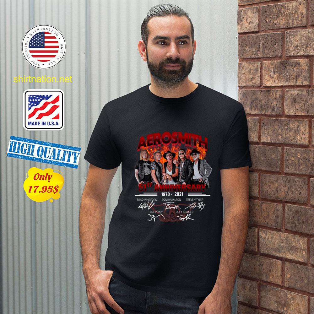 Aerosmith 51st Anniversary1970 2021 Shirt2 1
