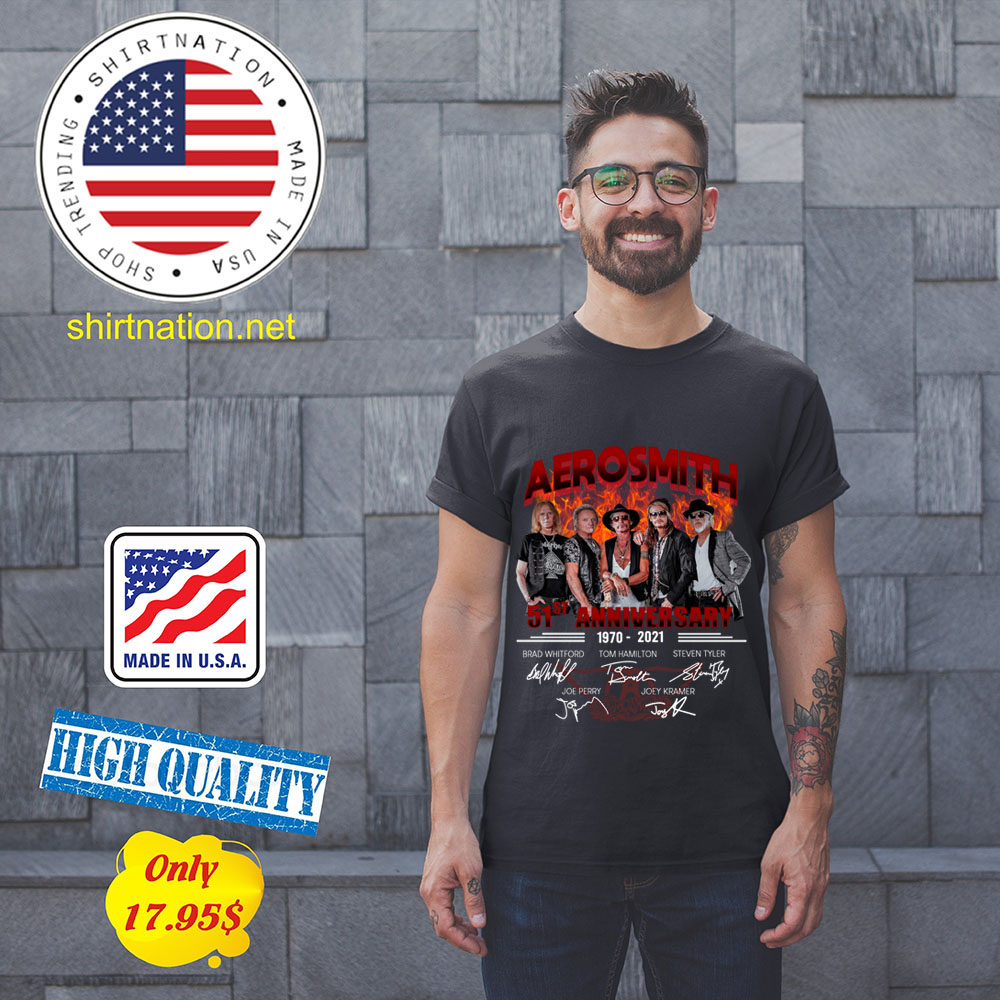 Aerosmith 51th anniversary 1970 2021 shirt 11