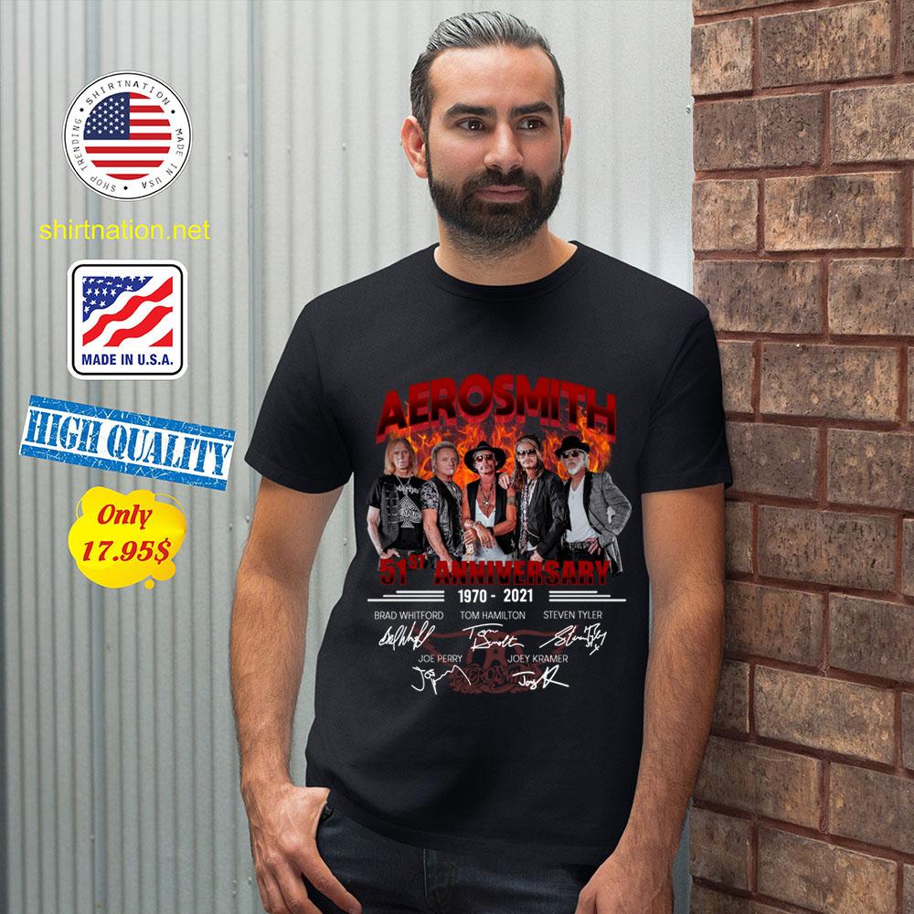 Aerosmith 51th anniversary 1970 2021 shirt 12