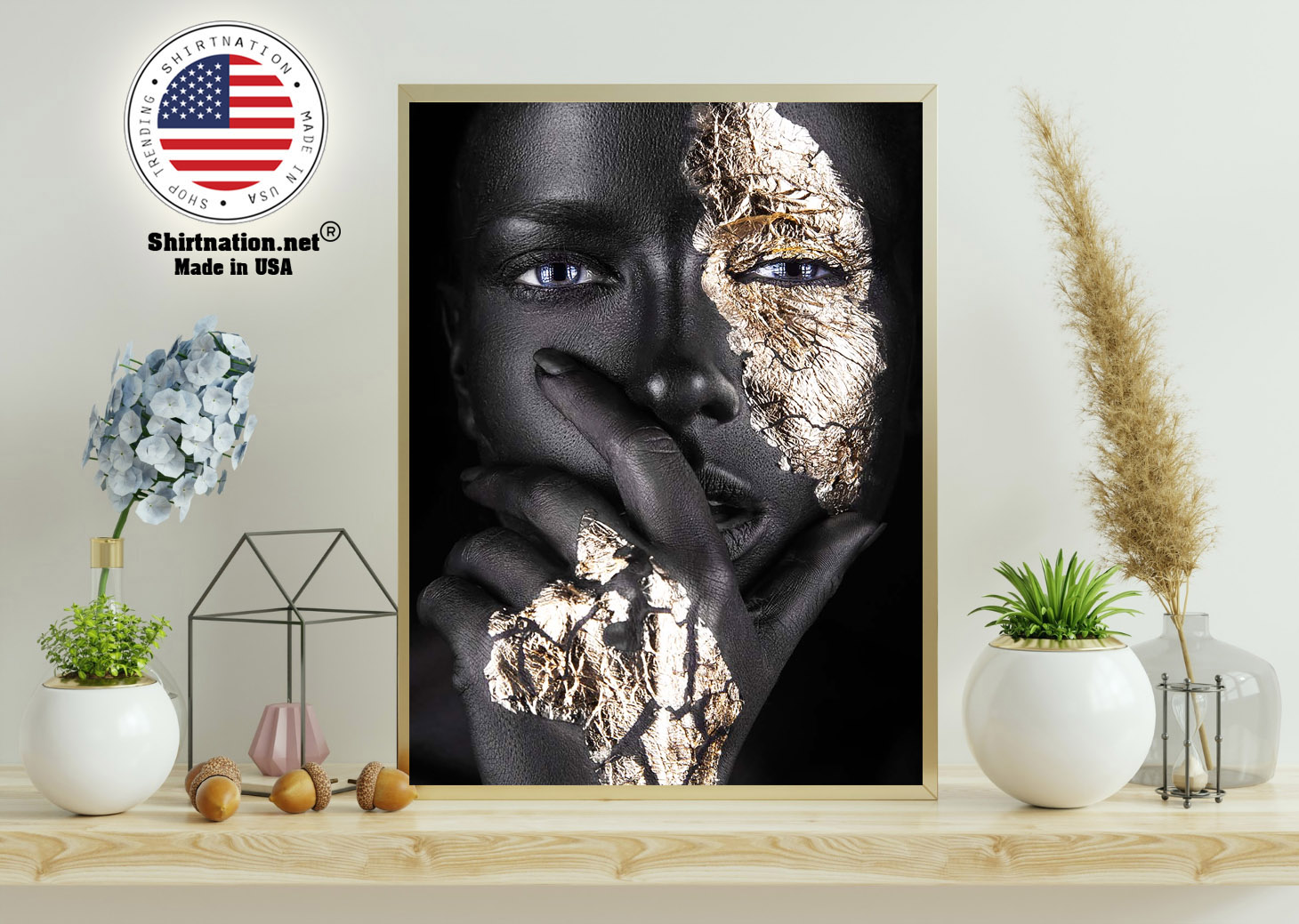 African Black and gold woman poster 11