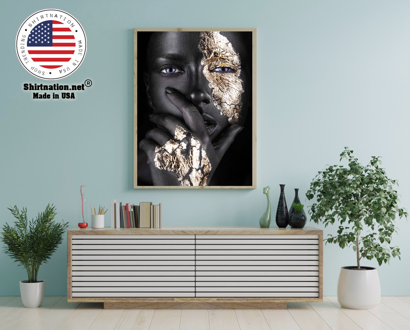 African Black and gold woman poster 12