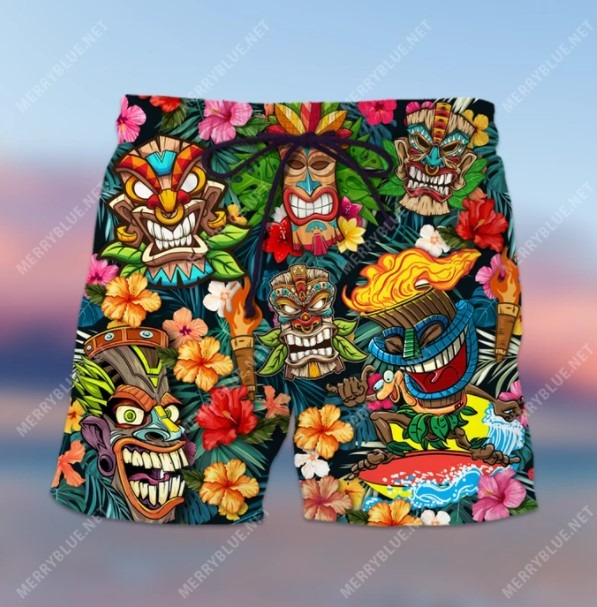 Aloha tiki tiki hawaiian shirt 1