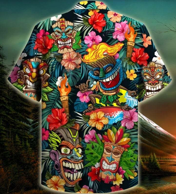 Aloha tiki tiki hawaiian shirt 3