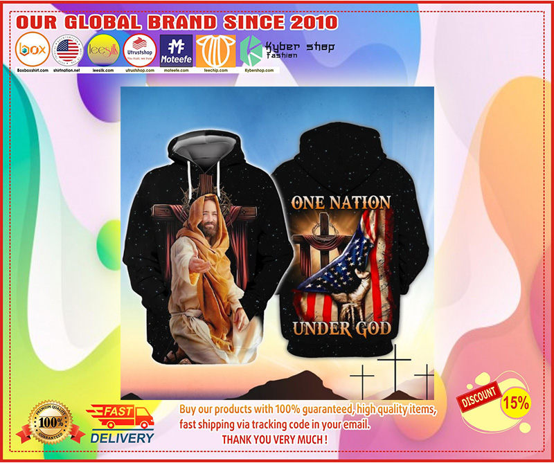 American One nation under god 3D hoodie 2