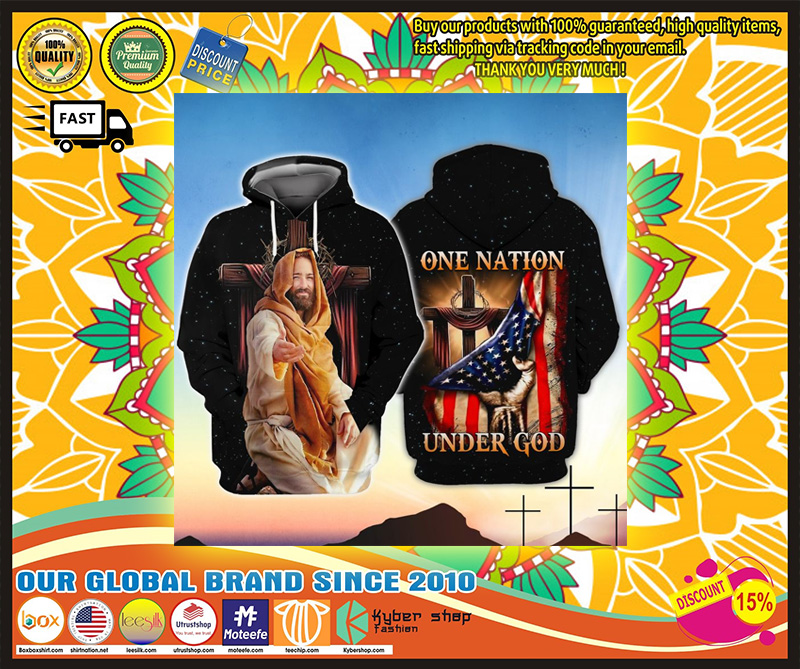 American One nation under god 3D hoodie 3