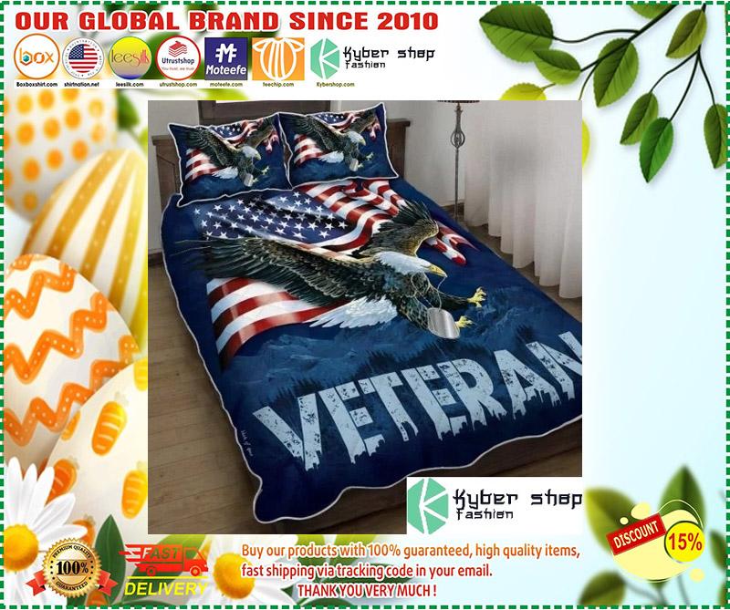 American eagle veteran bedding set 3
