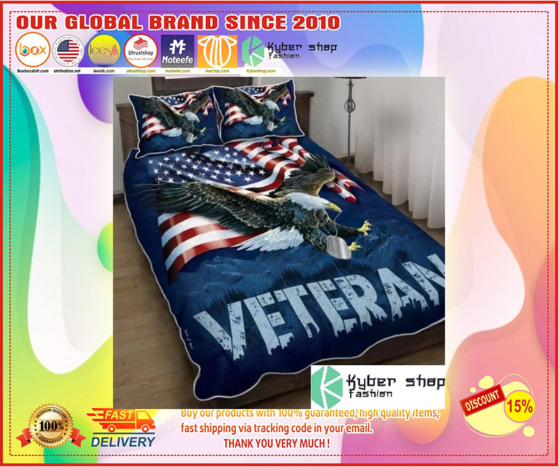 American eagle veteran bedding set 4