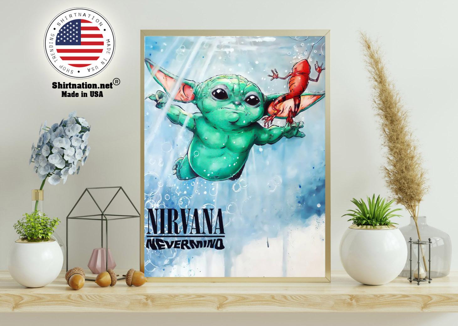 Baby Yoda nirvana never mind poster 11