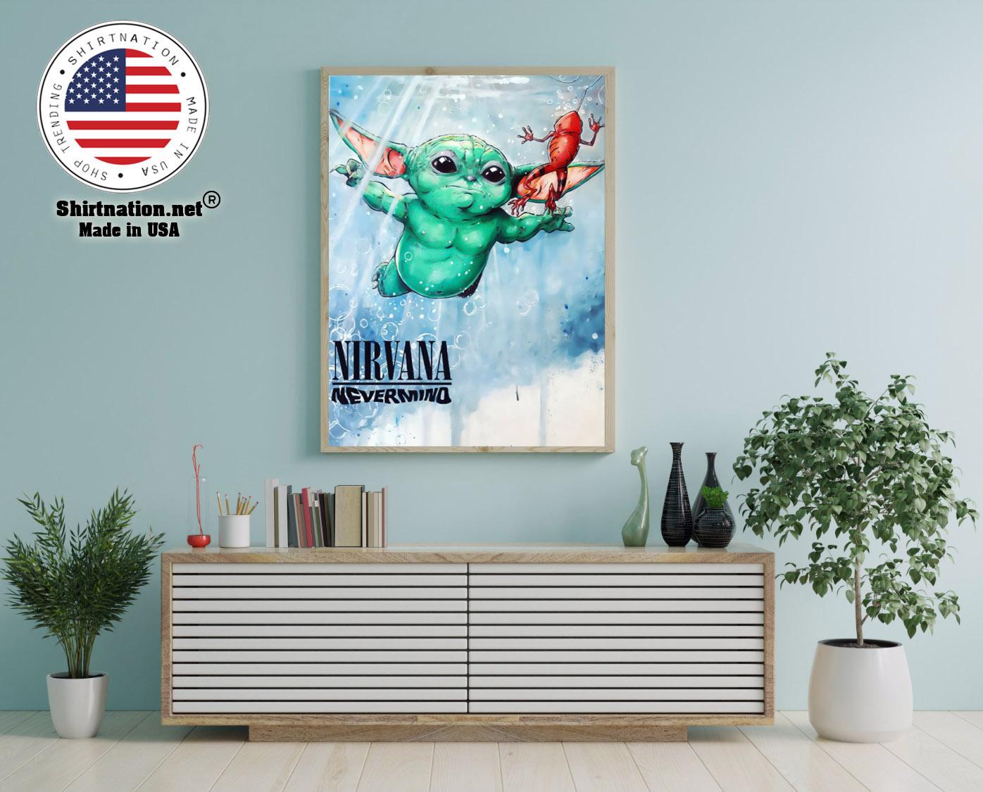 Baby Yoda nirvana never mind poster 12