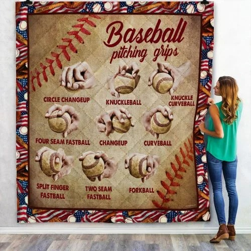 Baseball pitching grips quilt 2