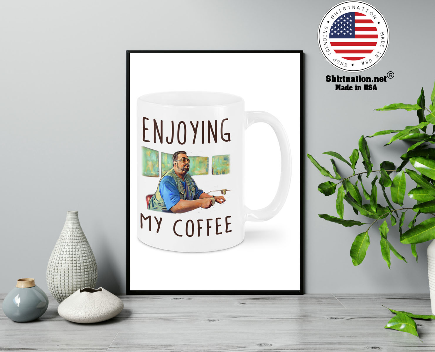 Big Lebowski Enjoying my coffee mug 13
