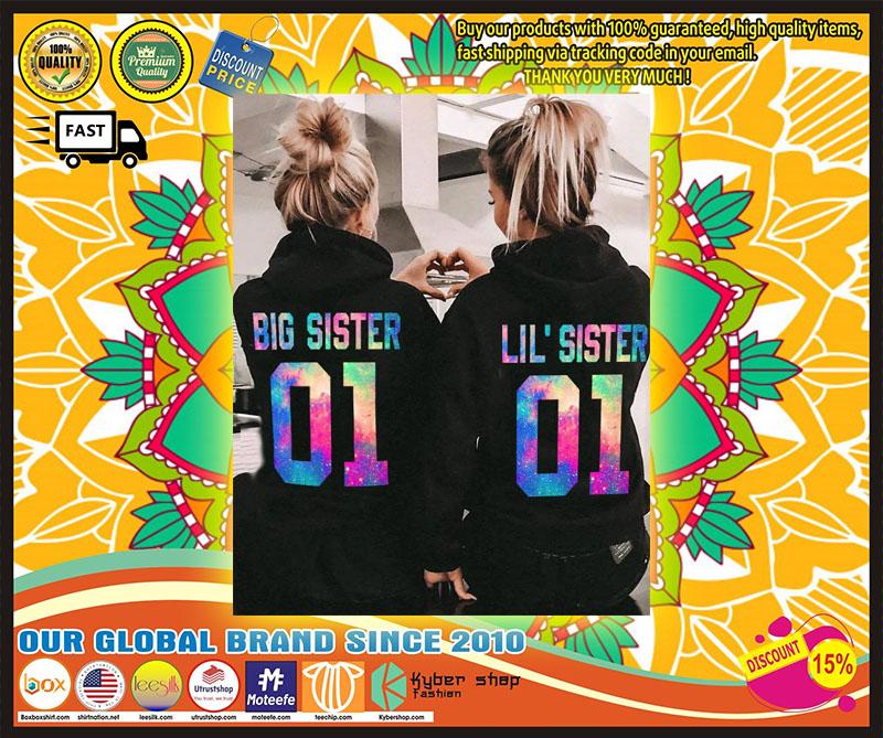 Big and little sister 3D hoodie custom number 1