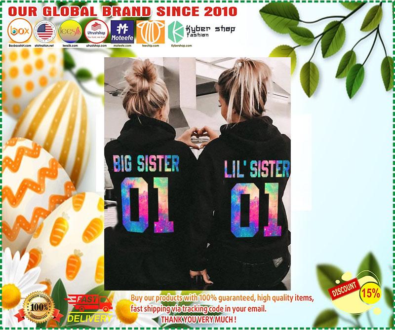Big and little sister 3D hoodie custom number 3