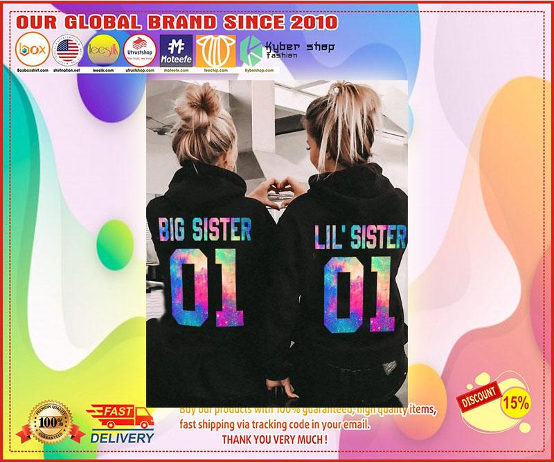 Big and little sister 3D hoodie custom number 4