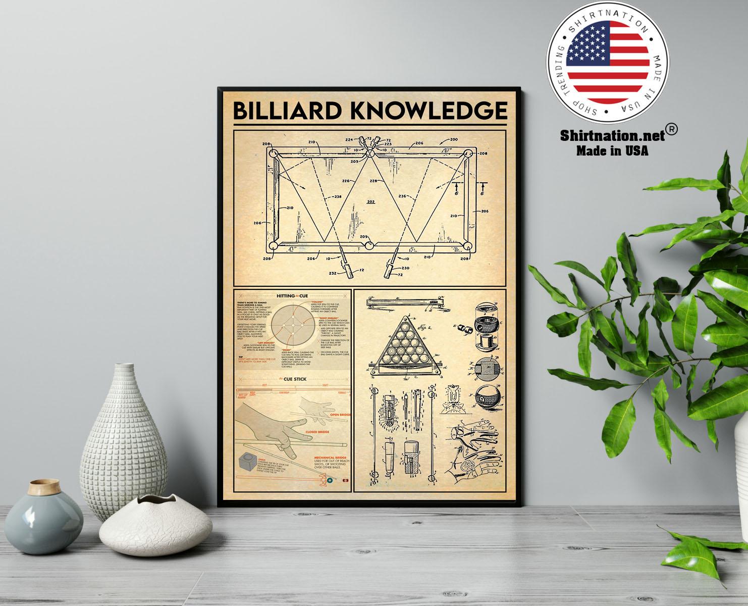 Billiard knowledge poster 13