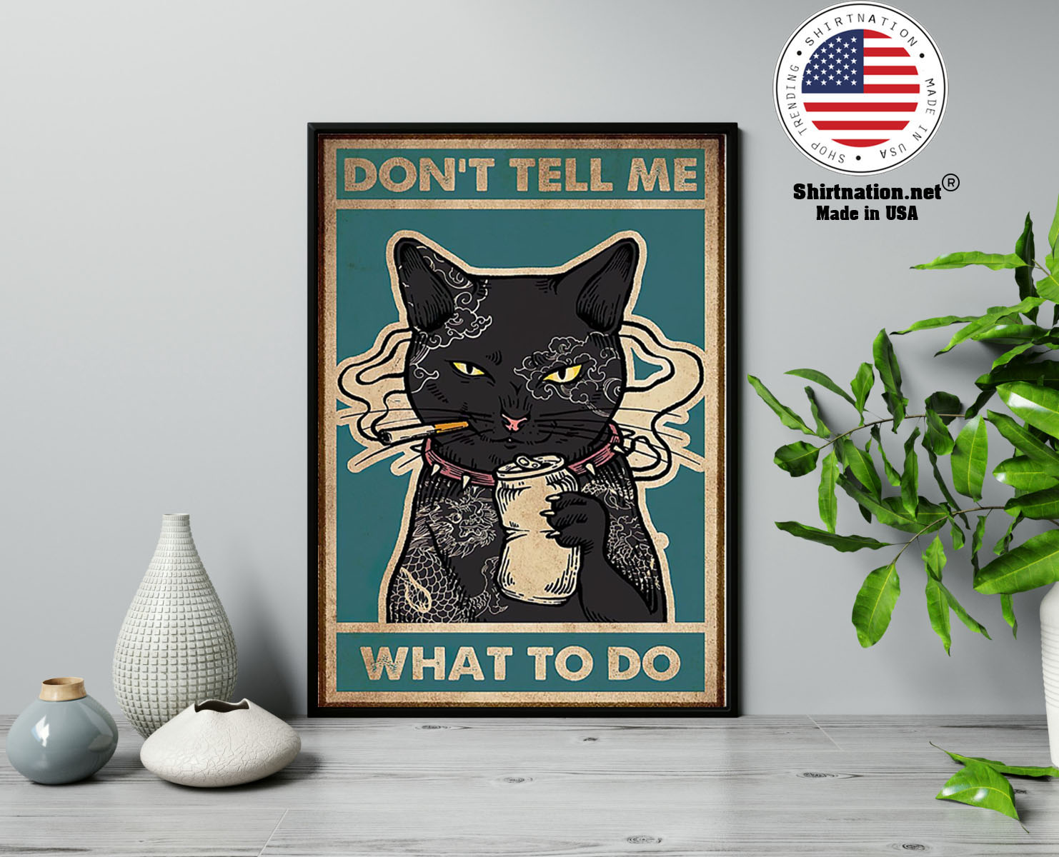 Black cat dont tell me what to do poster 2