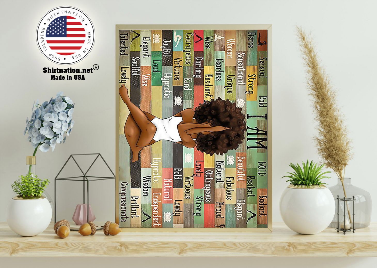 Black girl with yoga poster 11