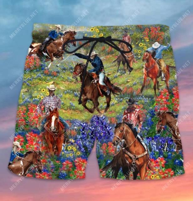 Bluebonnet and texas cowboy hawaiian shirt 5