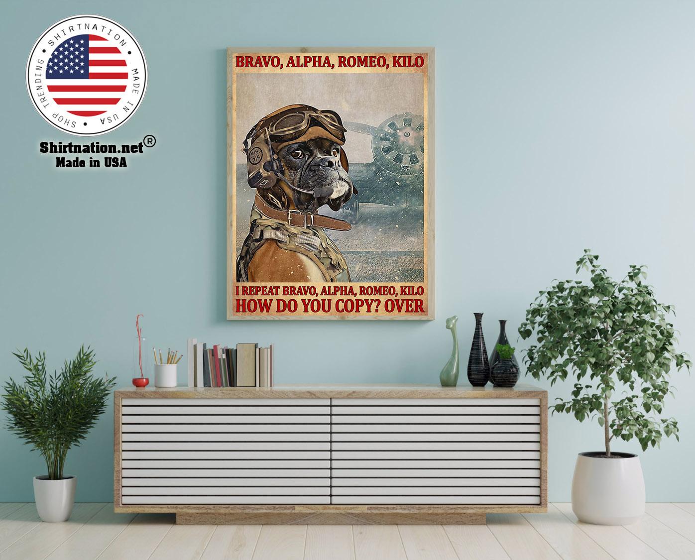 Bravo alpha romeo kilo I repeat bravo alpha romeo kilo how do you copy over poster 12